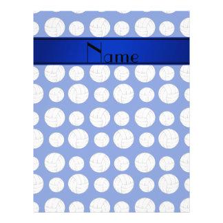 Custom name blue volleyballs blue stripe flyers