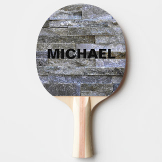 Custom Name Brick Wall Unique Pattern Ping Pong Paddle