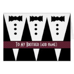 CUSTOM NAME - Brother Best Man Wedding Thank You Greeting Card