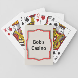 Custom Name Casino Playing Cards