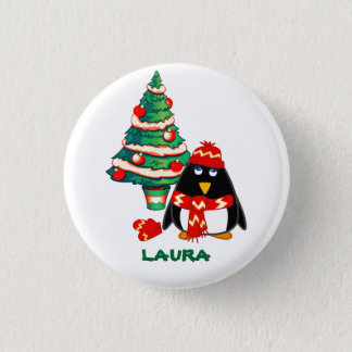 Custom Name. Christmas Gift Buttons