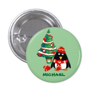 Custom Name Christmas Gift Buttons Pins