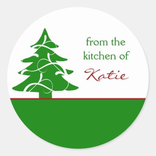 Custom Name Christmas Tree Stickers