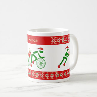 Custom name christmas triathletes coffee mug
