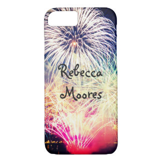 Custom Name | Colorful Fireworks iPhone 8/7 Case