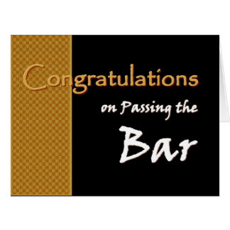 CUSTOM NAME Congratulations Passing Bar Exam A01 Big Greeting Card