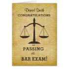 Custom Name Congratulations Passing Bar Exam Card