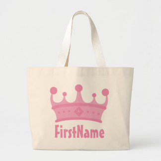Custom Name Crown Canvas Bags
