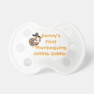 CUSTOM NAME CUTE FIRST THANKSGIVING PACIFIER
