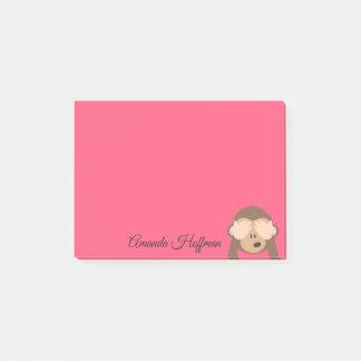 Custom Name | Cute Monkey Emoji Post-it Notes