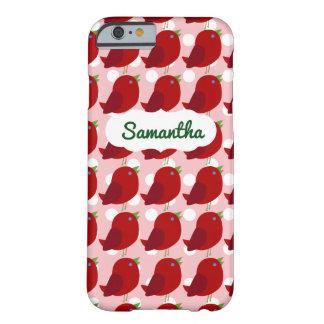 Custom Name Cute Red Bird iPhone 6/6s Case