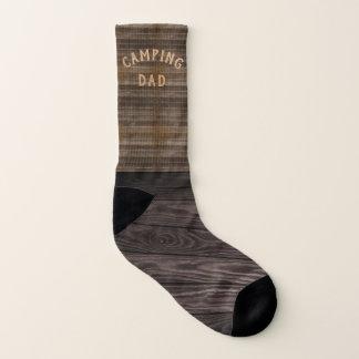 Custom Name Dad Funny Wood Camping Socks 1
