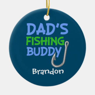 Custom Name Dad's Fishing Buddy ornament