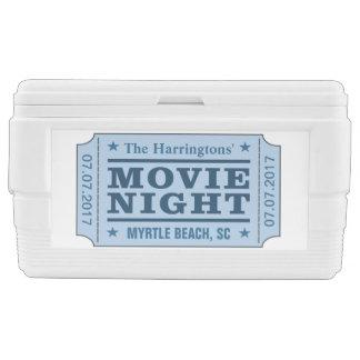 "Custom name, date & location ""Movie Ticket"" cooler"
