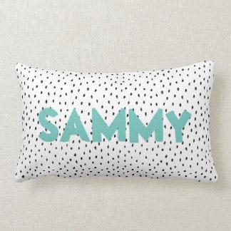 Custom Name Doodle Spot Lumbar Cushion