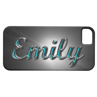 """Custom name""""Emily"""" in Turquoise and Silver Design. iPhone 5 Cases"""