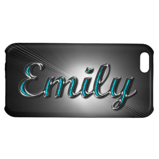 """Custom name""""Emily"""" in Turquoise and Silver Design. iPhone 5C Covers"""