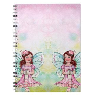 custom name fairy spiral note books