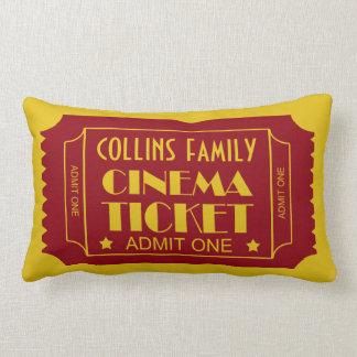 Custom Name Family Cinema Ticket Lumbar Cushion