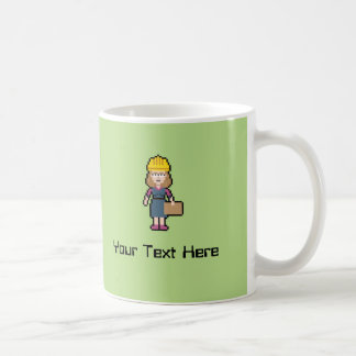 Custom Name Female Engineer Coffee Mug