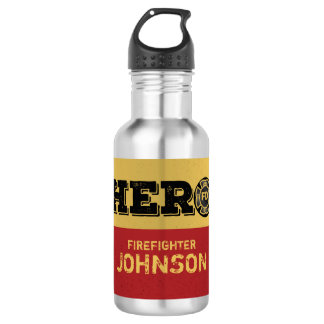 Custom Name, Firefighter Hero 532 Ml Water Bottle