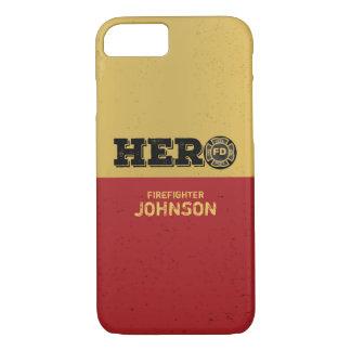 Custom Name, Firefighter Hero iPhone 8/7 Case