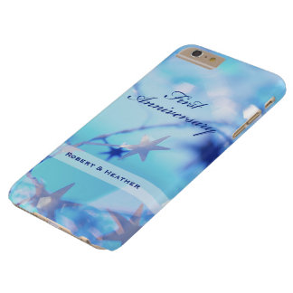 Custom Name, First Wedding Anniversary Sparkle Barely There iPhone 6 Plus Case