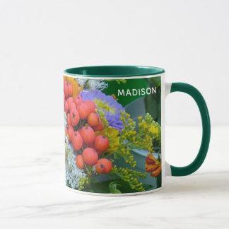 Custom name Flower mugs - choose style & color