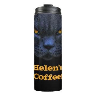Custom Name Funny Cross Cat Coffee Thermal Tumbler