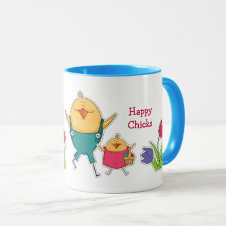 Custom Name Funny Easter Chicks Gift Mugs