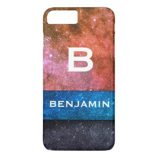 Custom Name galaxy Monogram iPhone 8 Plus/7 Plus Case
