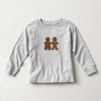 Custom Name Gingerbread Cookie Boy & Girl Toddler Tshirt