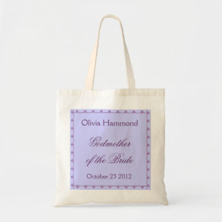 CUSTOM NAME Godmother of the Bride Bag PURPLE