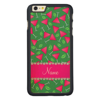 Custom name green pink cosmos limes carved® maple iPhone 6 plus case