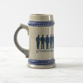 Custom name groomsman bachelor blue beer stein beer steins