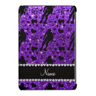 Custom name indigo glitter purple roller derby iPad mini retina cases