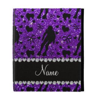 Custom name indigo glitter purple roller derby iPad case