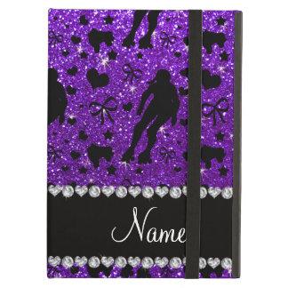 Custom name indigo glitter purple roller derby cover for iPad air
