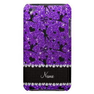Custom name indigo purple glitter cheerleading Case-Mate iPod touch case