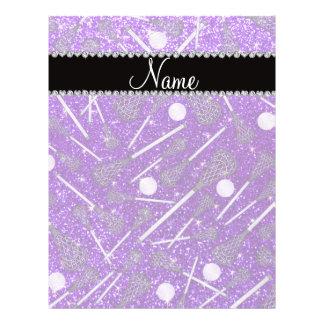 Custom name indigo purple glitter lacrosse sticks full color flyer