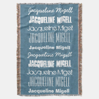 Custom Name JACQUELINE or ANY NAME or Saying A11A Throw Blanket