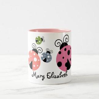 Custom Name Ladybug Coffee mug