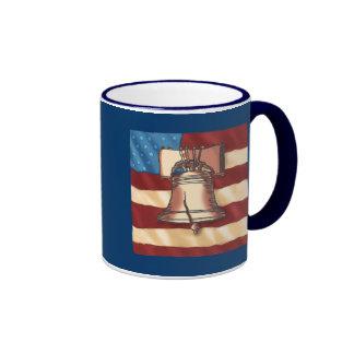 Custom Name Liberty Bell Coffee Mug