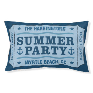 """Custom Name & Location """"Party Ticket"""" dog bed"""