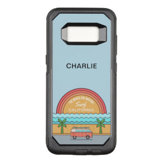 Custom Name & Location Surfer phone cases