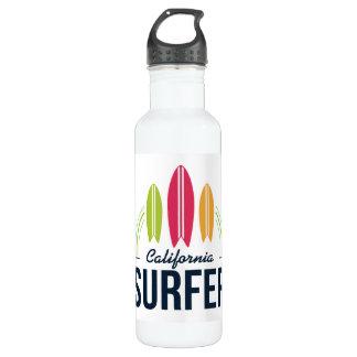 Custom Name & Location Surfer water bottles