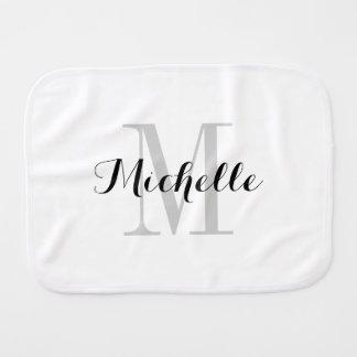 Custom name monogram burb cloth for new baby