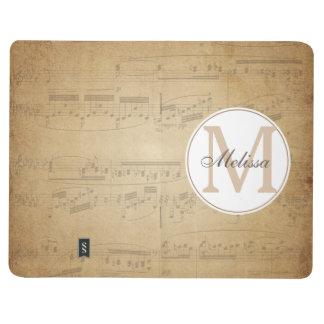 Custom Name Music Notebook