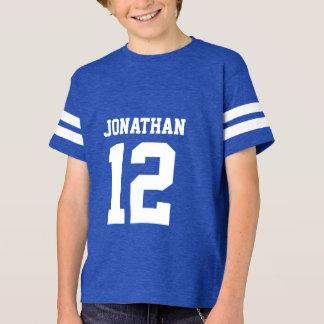 Custom Name Number Boys Sport Jersey Shirt