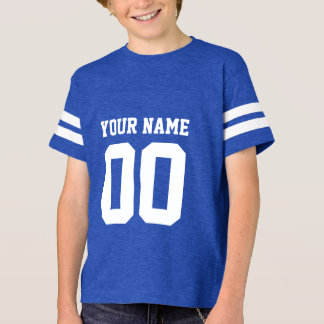 Custom Name Number Kids' Football Jersey Shirt